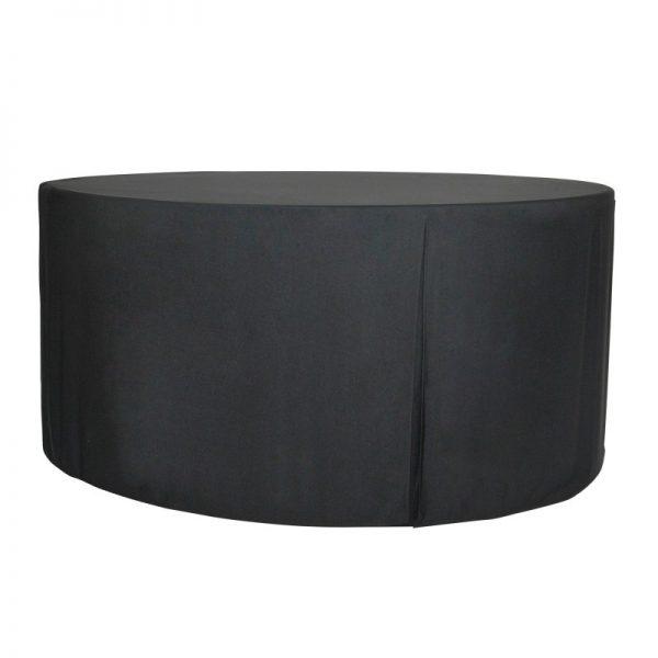 m180-plain pöytäliina, musta